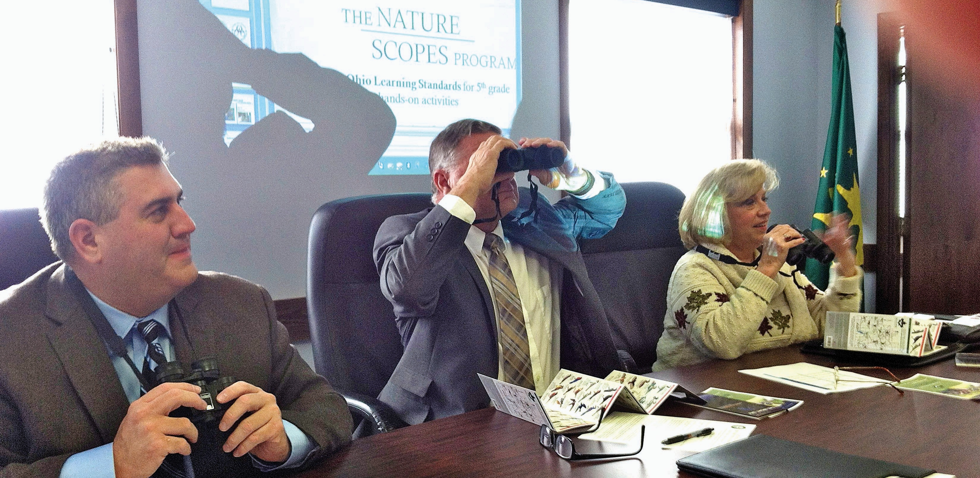 Screaming Frogs: Commissioners Enjoy Nature Scopes Presentation