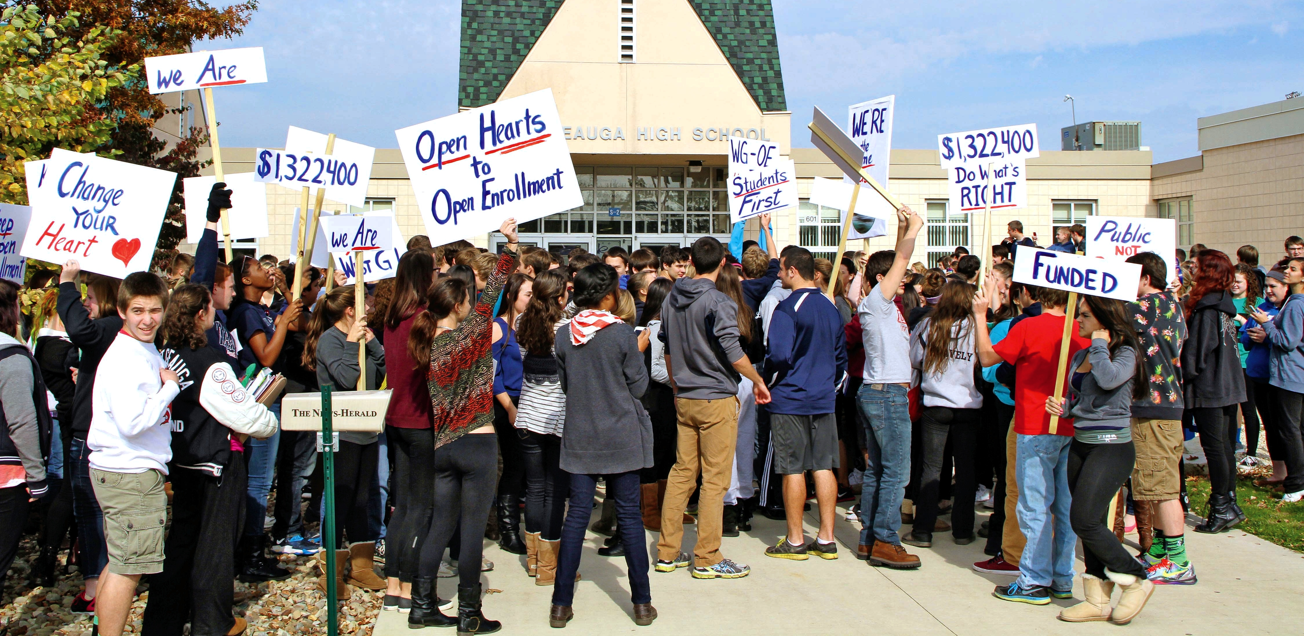 WGHS Students Walk Out in Support of Open Enrollment