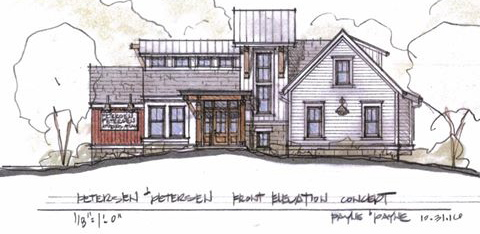 Brown Barn To House New Restaurant Overlooking Alpine Valley
